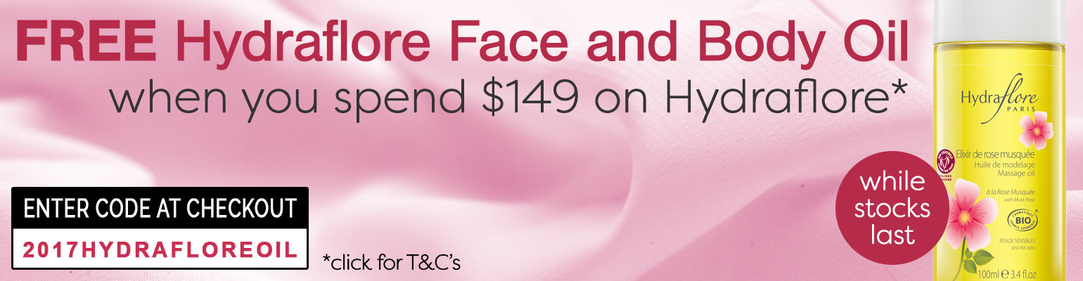 Free Hydraflore Face and Body Oil when you spend $149 on Hydraflore