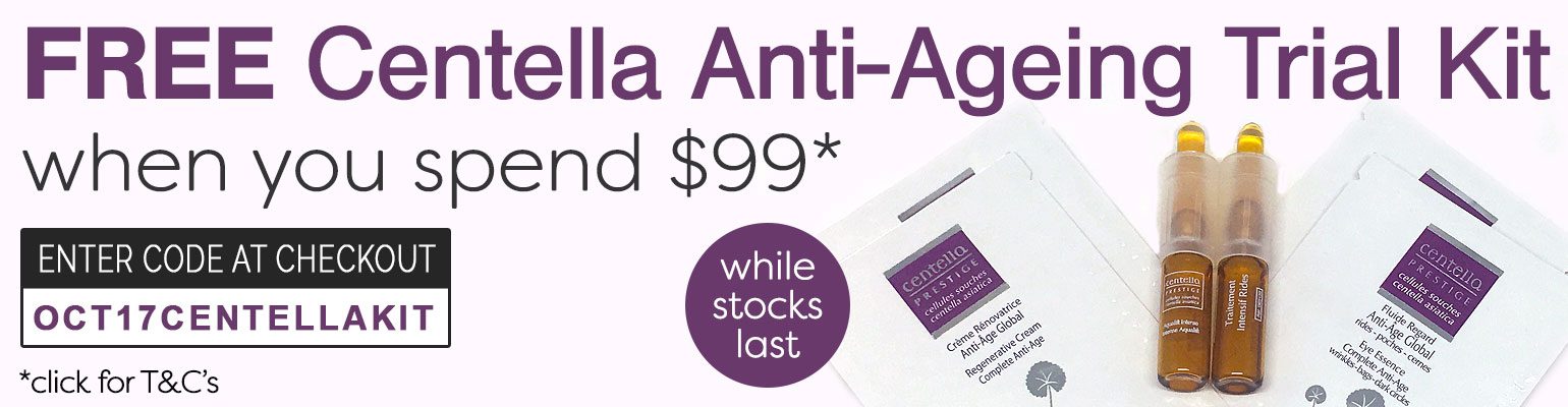 Free Centella Anti-Ageing Stem Cell Trial Kit when you spend $99