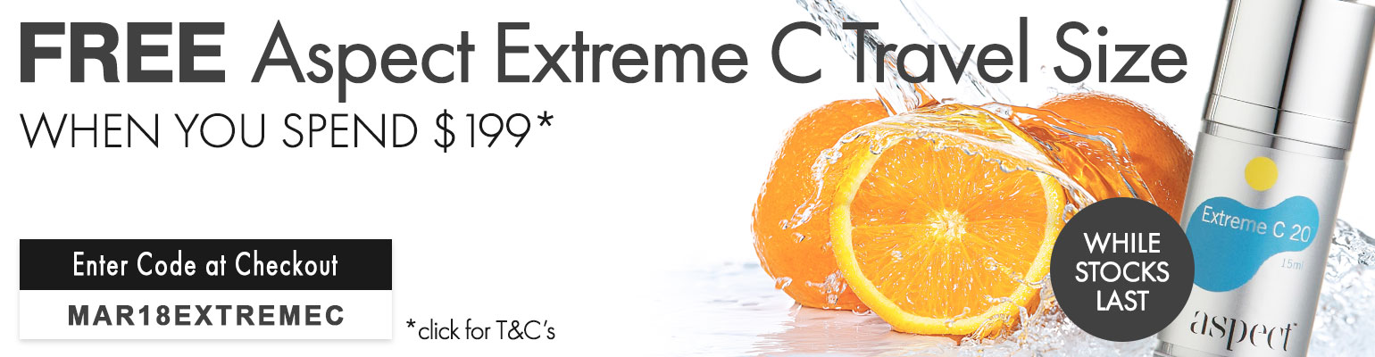 Free Aspect Extreme C Travel Size when you spend $199