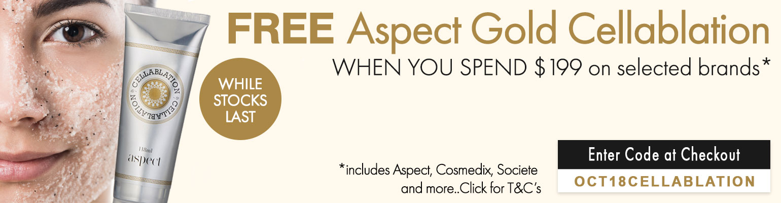 FREE Aspect Gold Cellablation when you spend $199 on selected brands