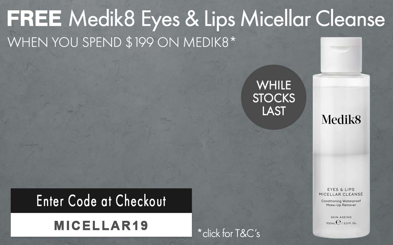 Free Medik8 Eyes and Lips Micellar Cleanse