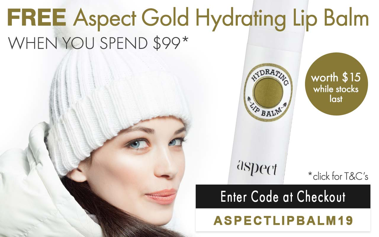 Free Aspect Gold Hydrating Lip Balm worth $15