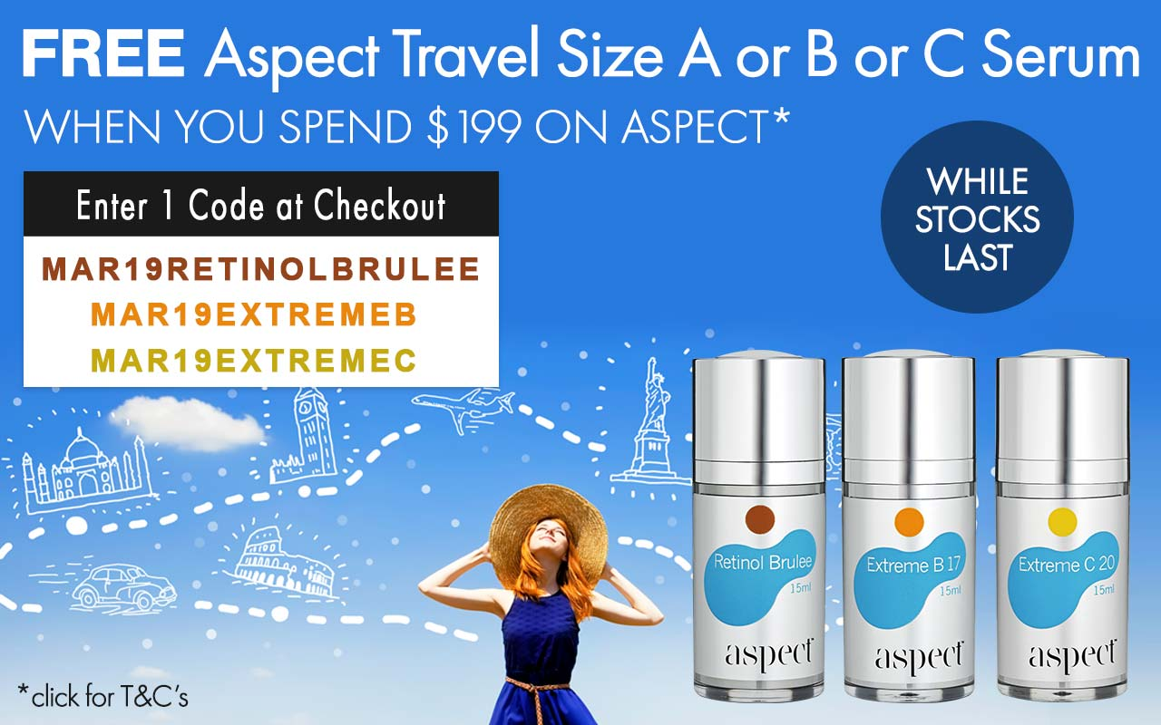 FREE Aspect Travel Size A or B or C Serum