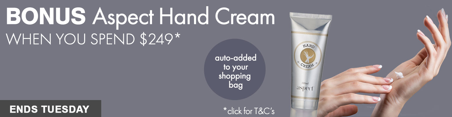 BONUS Aspect Hand Cream when you spend $249