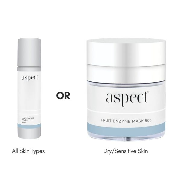 FREE Aspect Fruit Enzyme Mask 50g or Aspect Illuminating Polish 220ml when you spend $299 on selected brands