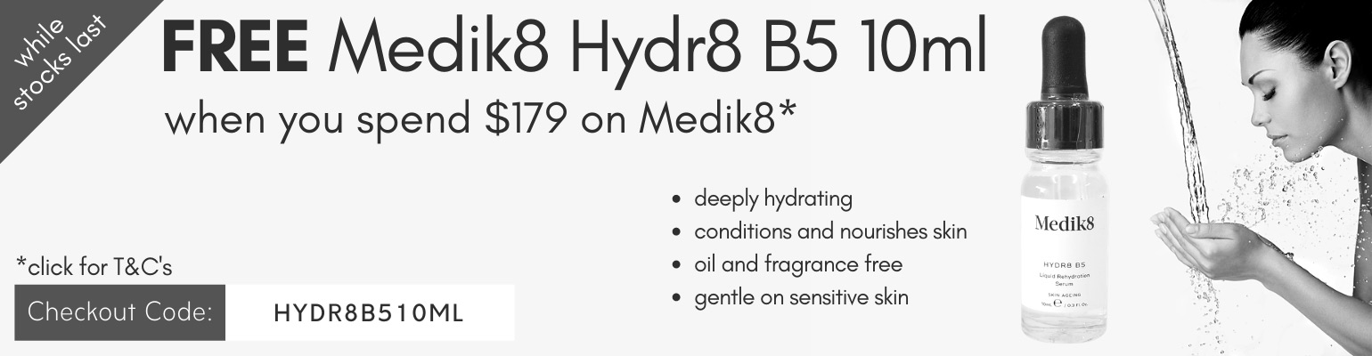 FREE Medik8 Hydr8 B5 10ml when you spend $179 on Medik8