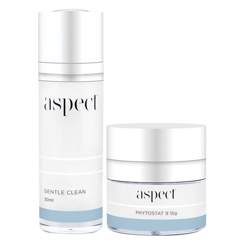 Free Aspect Gentle Clean Cleanser 30ml Travel Size + Aspect Phytostat 9 15g Travel Size