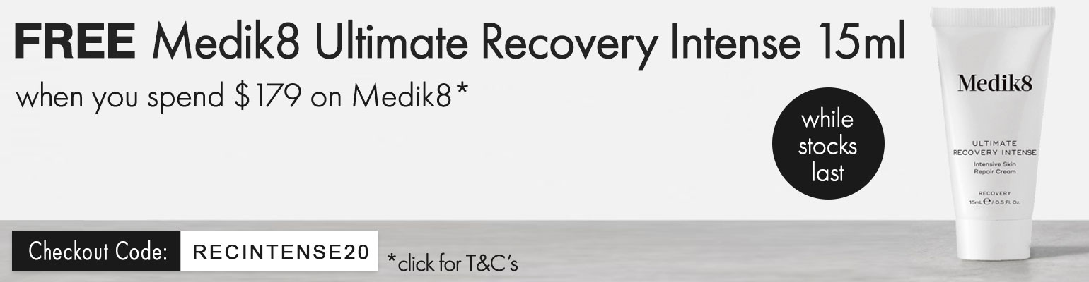 FREE Medik8 Ultimate Recovery Intense 15ml when you spend $179 on Medik8