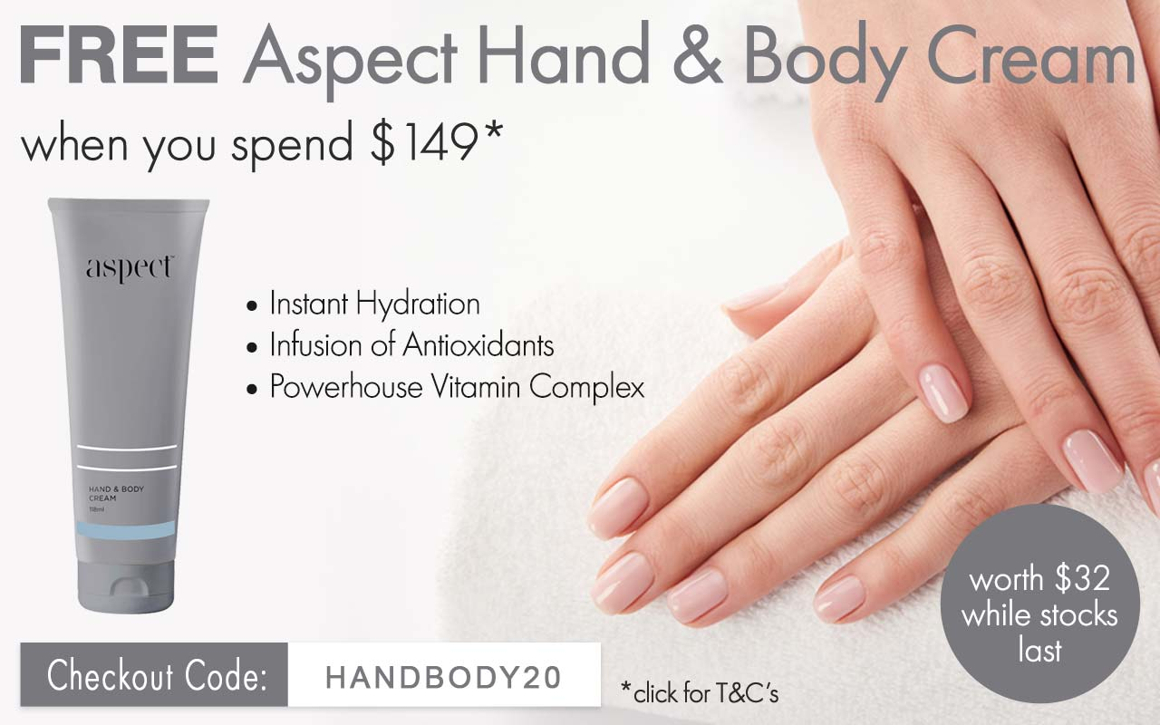 FREE Aspect Hand & Body Cream worth $32 when you spend $149