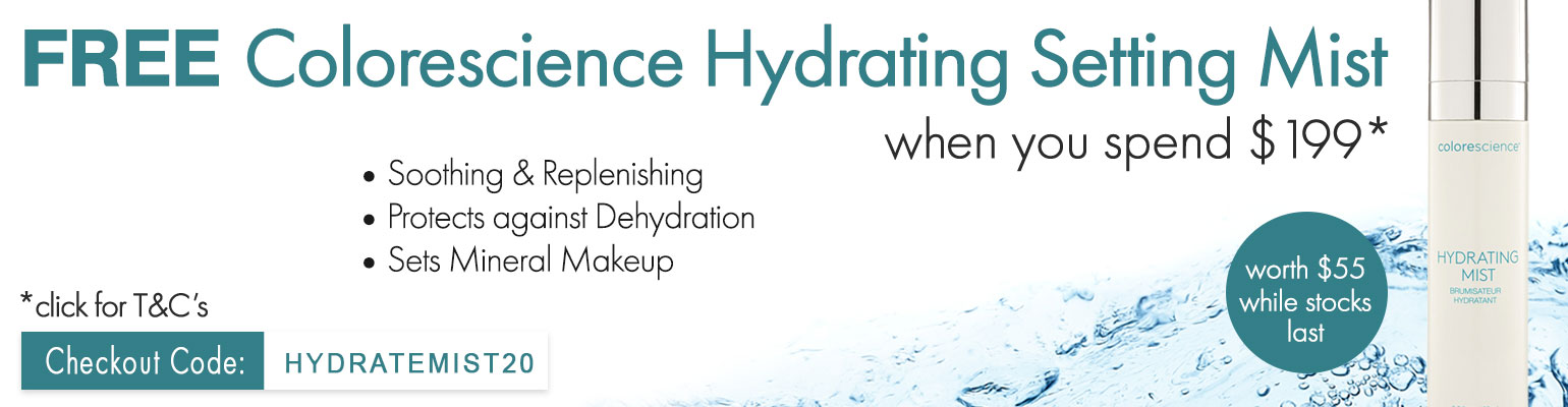 FREE Colorescience Hydrating Setting Mist worth $55 when you spend $199