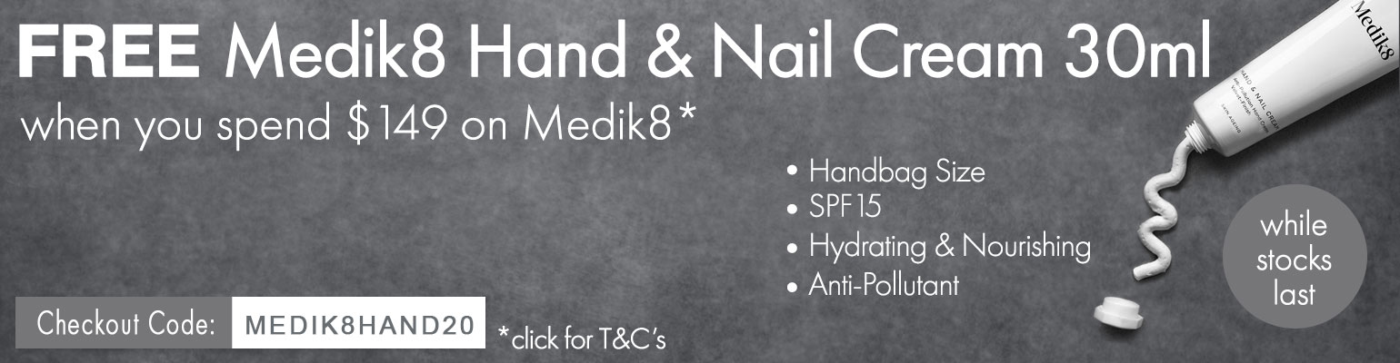 FREE Medik8 Hand and Nail Cream 30ml Travel Size
