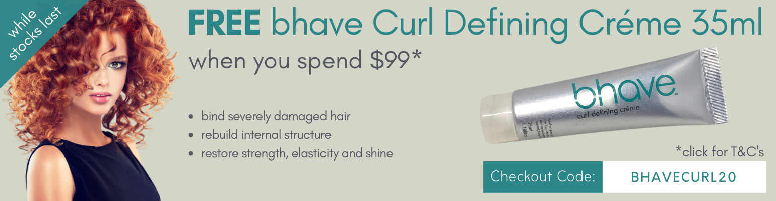 Free bhave Curl Defining Créme 35ml when you spend $99