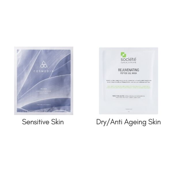 FREE Cosmedix Micro Defense Microbiome Mask - Single Sheet (worth $30) or Société Rejuvenating Peptide Gel Mask - Single Sheet (worth $35) when you spend $149