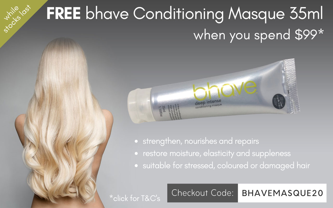 Free bhave Deep Intense Conditioning Masque 35ml when you spend $99