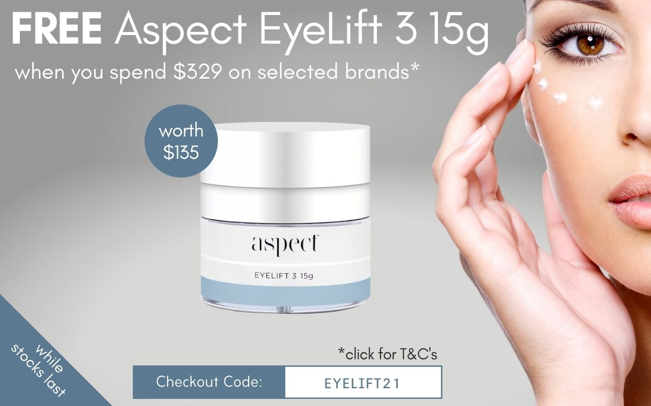 Free Medik8 Aspect EyeLift 3 15g when you spend $329 on selected brands