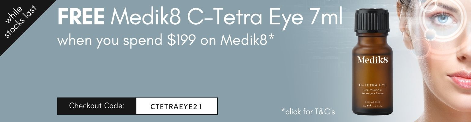 Free Medik8 C Tetra Eye 7ml when you spend $199 on Medik8