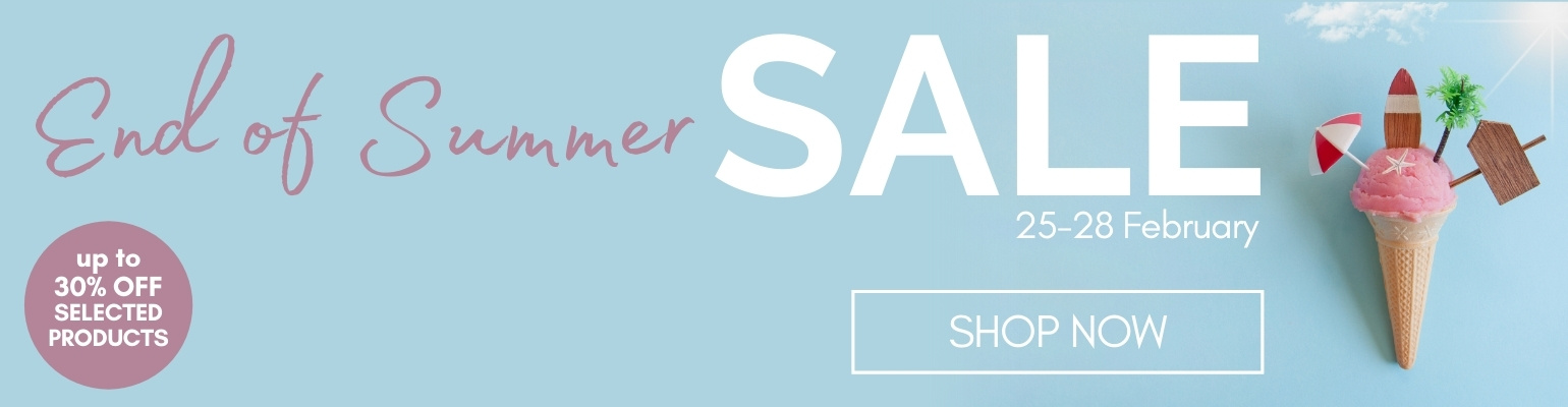 End of Summer Sale. Ends 28th February 2021