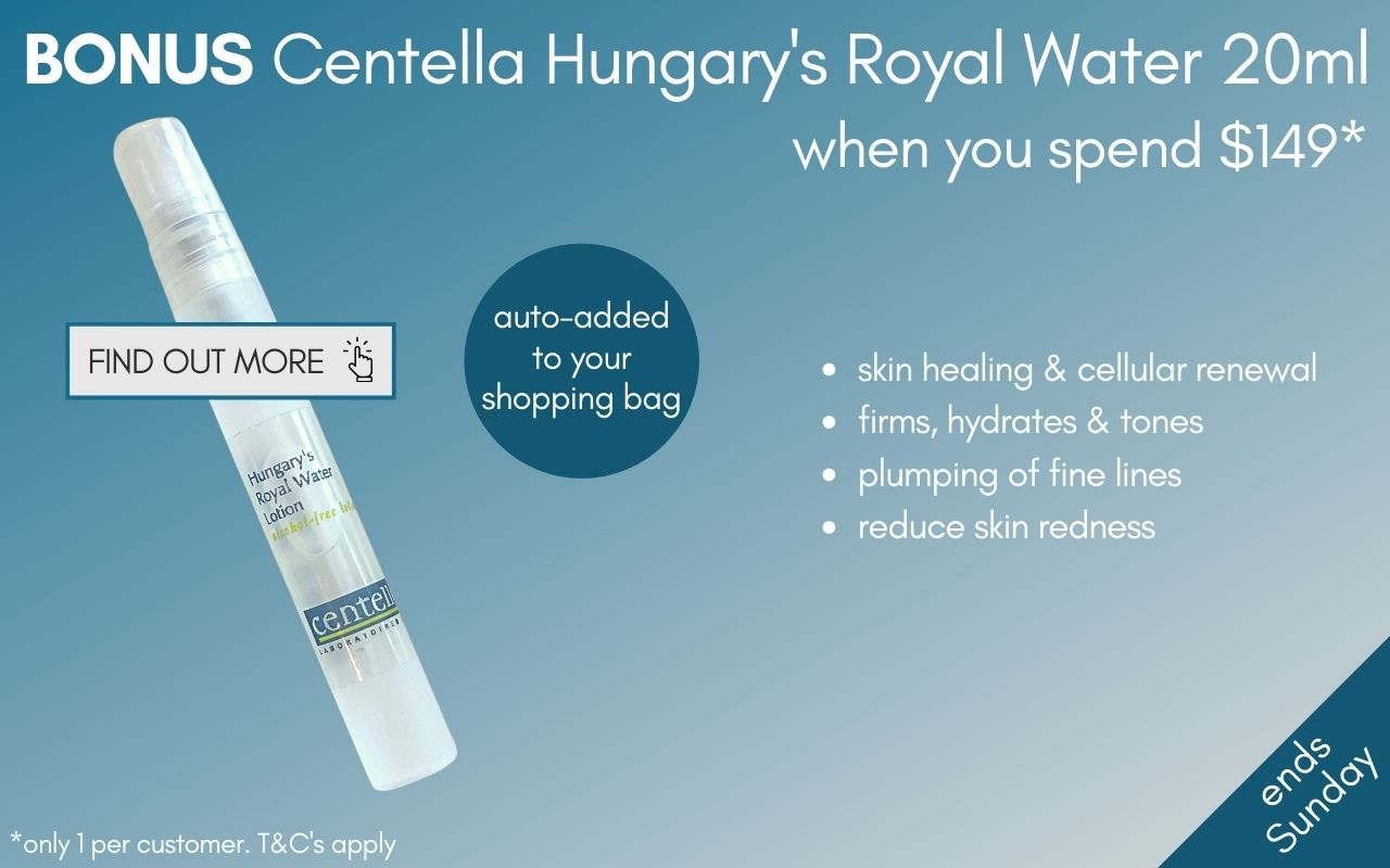 BONUS Centella Hungary's Royal Water 20ml when you spend $149