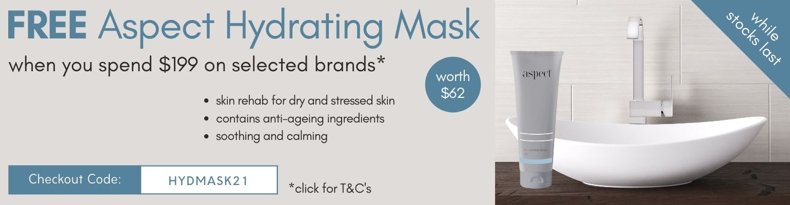 Free Aspect Hydrating Mask when you spend $199 on selected brands